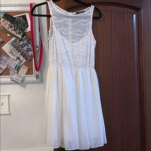 White LF flowy dress worn once size small